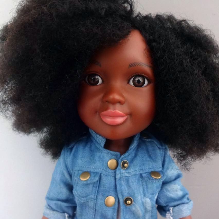 natural hair black doll