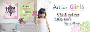 Art For Girls Check out our baby Girls room decor - MuralMax