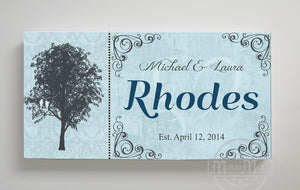 Personalized Family Name Sign - Custom Family Name& Established Date Canvas Wall Art - Wedding & Memorable Anniversary Gifts, Unique Wall Decor by Muralmax