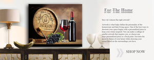 Personalized Napa Valley Wine Barrel Canvas Wall Decor - Milestone for Parents, Grandparents, Newlyweds, Bridal Showers Gift By Muralmax