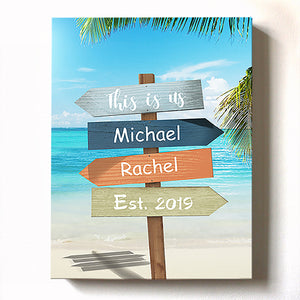 tropical-beach-sign-this-is-us-canvas-wall-art-personalized-with-name-and-date-unique-home-decor-muralmax