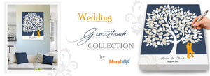 Wedding GuestBook Collection - Wedding Gift - Canvas Art By MuralMax