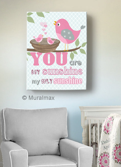 You are My Sunshine Theme - Canvas Nursery Decor-B018ISFY2Y