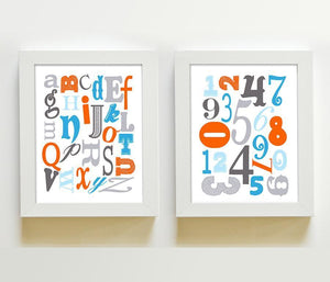 ABC's & 123's Educational Collection - Set of 2 - Unframed Prints-B01CRT781ABaby ProductMuralMax Interiors
