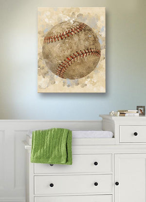 Baseball Sports Canvas Nursery Wall Decor - Unique Boy Room Art Gifts for Bedrooms & Playrooms - Great Baby Shower Presents - MuralMax Interiors
