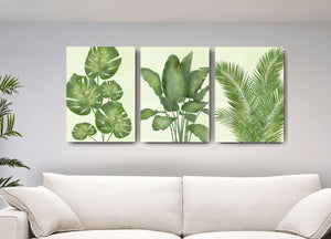 Botanical Wall Decor Banana Tree Palm Leaf Canvas Wall Art