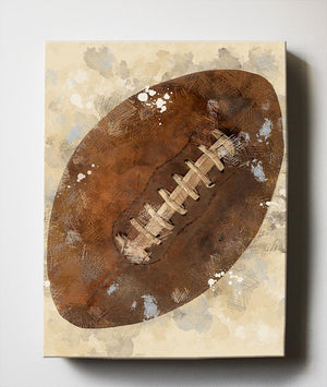Boys Sports Canvas Nursery Wall Decor - Unique Football Art Gifts for Bedrooms & Playrooms - Great Baby Shower Presents - MuralMax Interiors