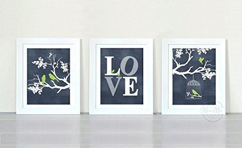 Branches of Love Collection - Set of 3 - Unframed Prints-B01CRMGSTA - MuralMax Interiors