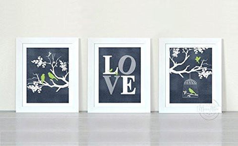 Branches of Love Collection - Set of 3 - Unframed Prints-B01CRMGSTA