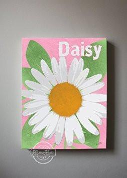 Daisy Floral Canvas Wall Art-B018ISM5H6
