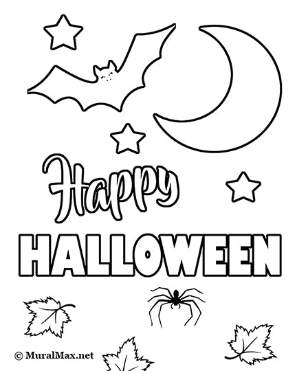 Free Halloween Pumpkin Coloring Page For Kids – MuralMax Interiors