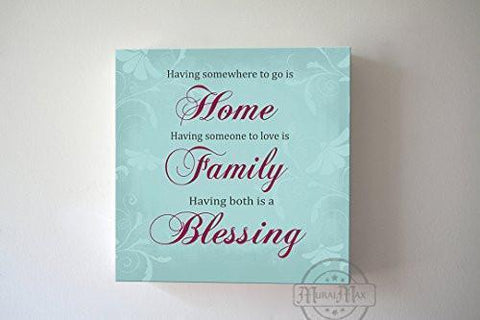 Home Family Blessing Quote - Stretched Canvas Wall Art - Wedding & Memorable Anniversary Gifts - Unique Wall Decor-MuralMax Interiors
