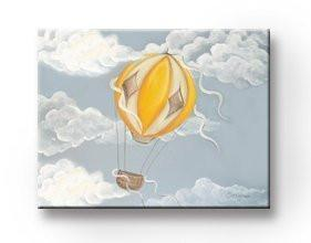 Hot Air Balloon Theme - Aviation Canvas Art-B018ISJYKM-MuralMax Interiors