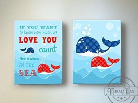 I Knew I Loved You - Nursery Inspirational Rhyme - Canvas Decor - Set of 2-B018ISIN54