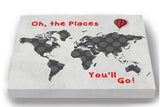 Inspiration Rhyme - Oh The Places You'll Go - Polka Dot Global Map Theme - Canvas Dr Seuss Collection-B019018EMU-MuralMax Interiors