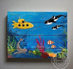 My Own Fish Aquarium Theme - Canvas Decor - The Ocean & Fish Collection-B018ISGVJ4-MuralMax Interiors