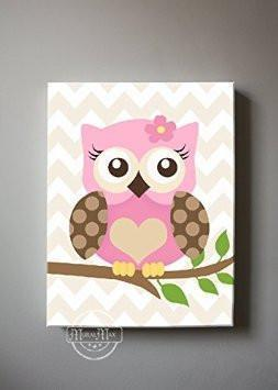 Owl Always Love You Decor - Canvas Nursery Art Collection-B018GT1MHG-MuralMax Interiors