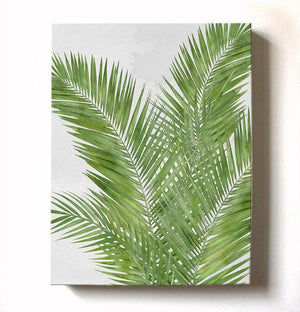 Palm Tree Tropical Canvas Art - Botanical Wall Decor - Watercolor Painting Green Botanical Living Room Bedroom Wall DecorationHomeMuralMax Interiors