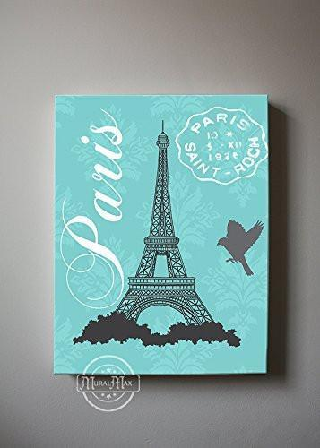 Paris Wall Art - Eiffel Tower Girl Room Decor- The Canvas Paris Collection-B01901608A-MuralMax Interiors