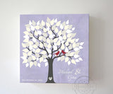 Wedding Gift - Custom Alternative Wedding Guest Book 100-150 Leaf Family Tree Canvas Wall Art - Unique Guest Book Ideal - LilacHomeMuralMax Interiors