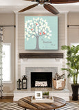 Personalized Anniversary Gift - Family Tree Canvas Wall Art - Make Your Anniversary Gifts Memorable - Color - Mint - B01IFBS46C-MuralMax Interiors