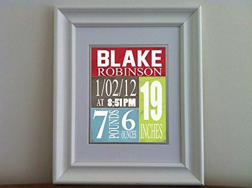 Personalized Birth Announcement Theme - Custom Nursery Decor Collection - Unframed Print-B018GSZ07U-MuralMax Interiors