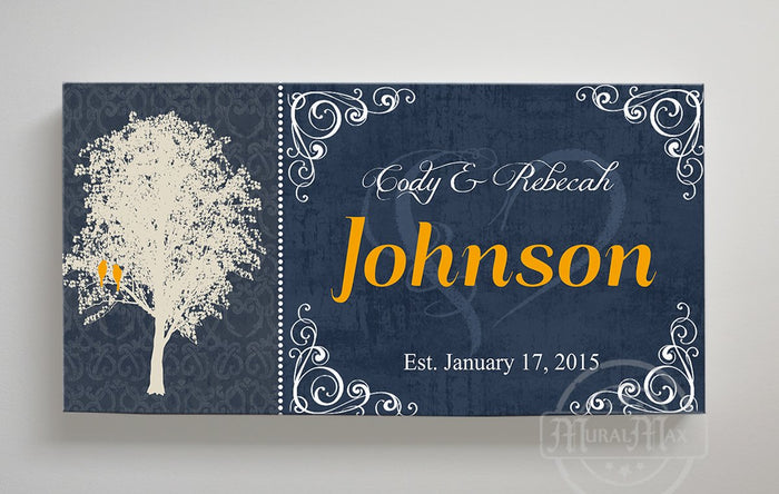 Personalized Family Name Sign Canvas Wall Art