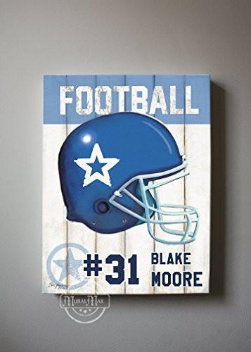 Personalized - Football Theme - The Canvas Sporting Event Collection-B018KOANA4