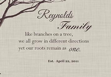 Personalized Gift for Family, Family Tree Canvas Art, Make Your Wedding &  Anniversary Gifts Memorable - 30-DAY - Color - Ivory # 2 - B01M11T4TV