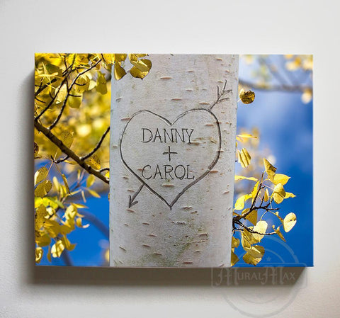 Personalized Names & Established Date: Family Tree of Life Carving - Canvas Housewarming Wall Decor-MuralMax Interiors