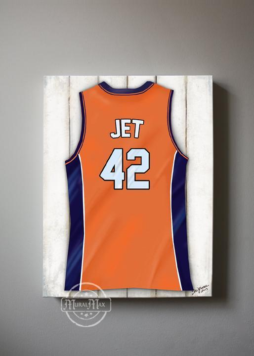 Personalized New York Knicks Basketball Jersey Boys Room Wall Decor - Man Cave Canvas Art