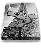 Personalized Paris Street Sign - Couple's Names Custom Sign - Custom Anniversary Gift Wedding Gift-MuralMax Interiors