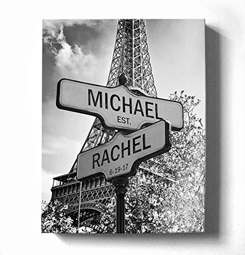 Personalized Paris Street Sign - Couples Names Custom Sign - Custom Anniversary Gift Wedding Gift