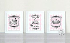 Personalized Princess Nursery Collection - Unframed Prints - Set of 3-MuralMax Interiors