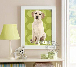 Personalized Puppy Dog Wall Art - Unframed Print-B018KOIC3E-MuralMax Interiors