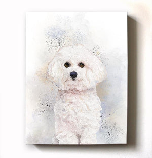 Poodle Dog Watercolor Painting Canvas Art - Animal Illustration - Home Decor - Nursery Decor Contemporary Dog Wall ArtHomeMuralMax Interiors