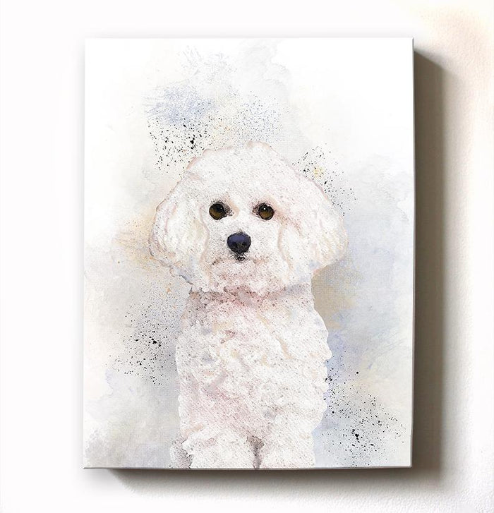 Poodle Dog Watercolor Painting Canvas Art - Animal Illustration - Home Decor - Nursery Decor Contemporary Dog Wall Art