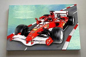 Race Car Nursery Theme - Canvas Decor-B018ISK2JO-MuralMax Interiors