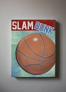 Slam Dunk Basketball Theme - The Canvas Sporting Event Collection-B018ISN6HE-MuralMax Interiors