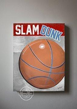 Slam Dunk Basketball Theme - The Canvas Sporting Event Collection-B018ISNT8U-MuralMax Interiors
