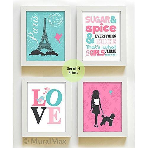 The Sugar & Spice Paris Collection - Set of 4 - Unframed Prints-B01CRMIGJK