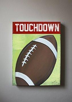 Touchdown Football Theme - The Canvas Sporting Event Collection-B018ISN91C-MuralMax Interiors