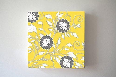 Traveling Flower Vines - Stretched Canvas Wall Art - Memorable Anniversary Gifts - Unique Wall Decor - Color - Yellow - 30-DAY-B018KOBTF2-MuralMax Interiors