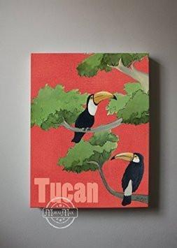 Tucam Family Safari Collection - Canvas Decor - Set of 2-B018ISNYSU-MuralMax Interiors