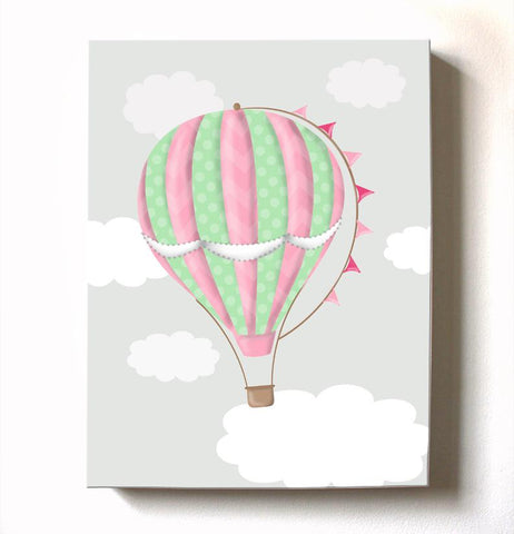 Vintage Hot Air Balloon Baby Nursery Decor - Travel Girl Room DecorBaby ProductMuralMax Interiors