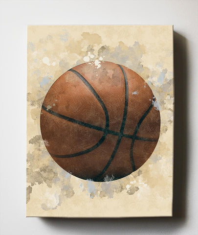 Vintage Sports Basketball Canvas Nursery Wall Decor - Unique Boy Room Art Gifts for Bedrooms & Playrooms - Great Baby Shower Presents-MuralMax Interiors