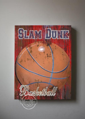 Vintage Sports Wall Decor -Baseball - Football - Basketball & Soccer - Canvas Wall Art-MuralMax Interiors
