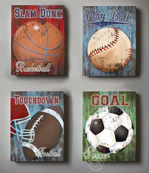 Vintage Sports Wall Decor