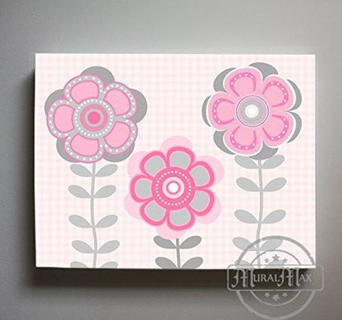 Whimsical - Daisy Floral Nursery Decor - The Canvas Flower Bed & Bath Collection-B0190176F6