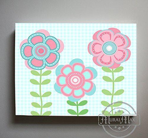 Whimsical - Daisy Floral Nursery Decor - The Canvas Flower Bed & Bath Collection-B01901795I